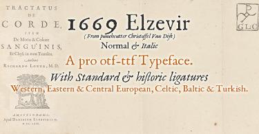 1669 Elzevir [2 Fonts] | The Fonts Master