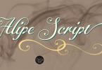 Alipe Script [3 Fonts] | The Fonts Master