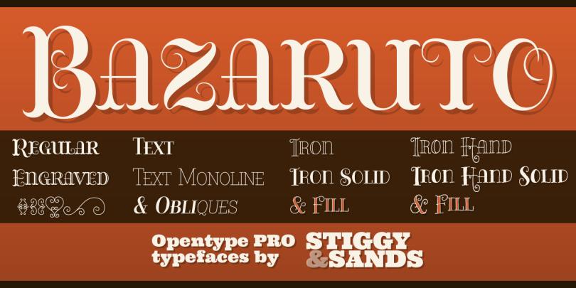 Bazaruto [13 Fonts]   The Fonts Master