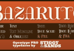 Bazaruto [13 Fonts] | The Fonts Master