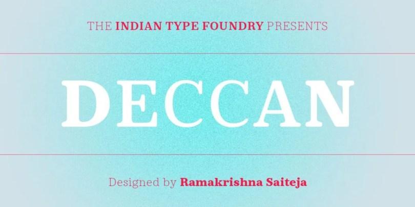 Deccan [5 Fonts] | The Fonts Master