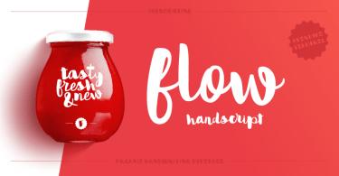 Flow Handscript [1 Font] | The Fonts Master