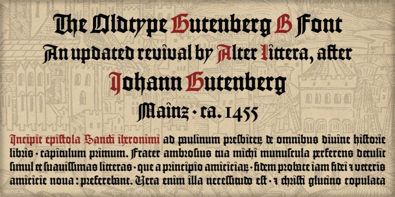 Gutenberg B [1 Font] | The Fonts Master