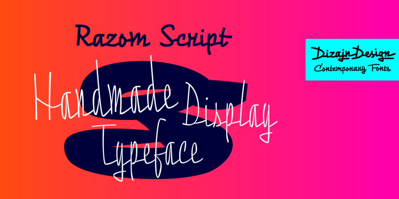 Razom Script [3 Fonts]   The Fonts Master