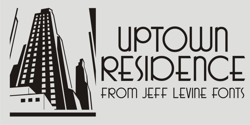 Uptown Residence Jnl [1 Font] | The Fonts Master
