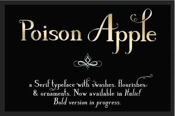 Poison Apple [6 Fonts] | The Fonts Master