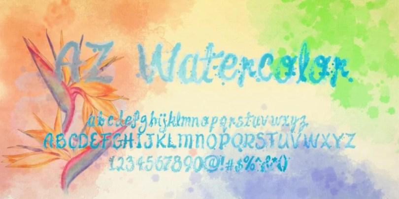 Az Watercolor [3 Fonts] | The Fonts Master