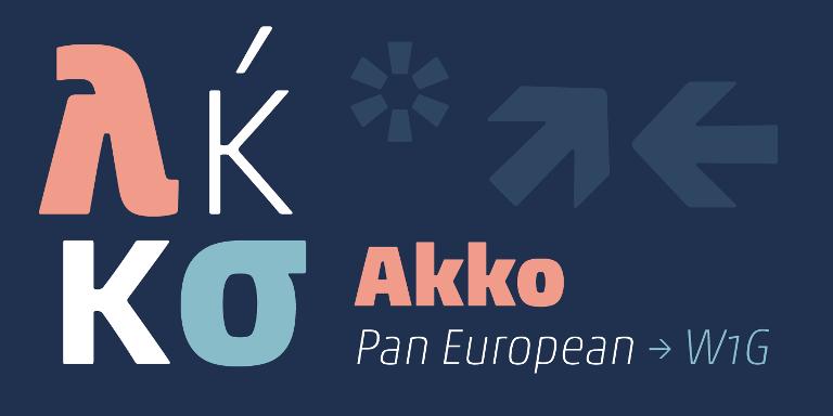 Akko Pan-European Super Family [12 Fonts]   The Fonts Master