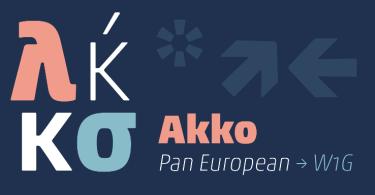 Akko Pan-European Super Family [12 Fonts] | The Fonts Master