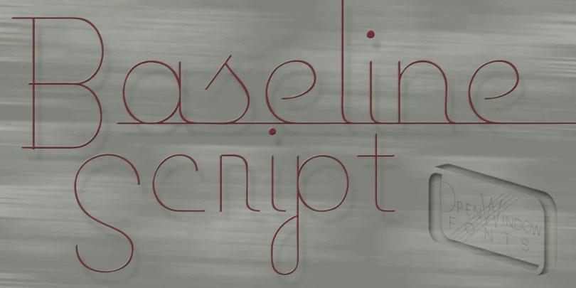 Baseline Script [2 Fonts]   The Fonts Master