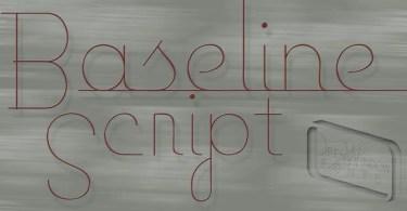 Baseline Script [2 Fonts] | The Fonts Master