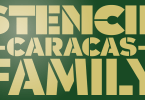 Caracas Stencil Pro [8 Fonts] | The Fonts Master