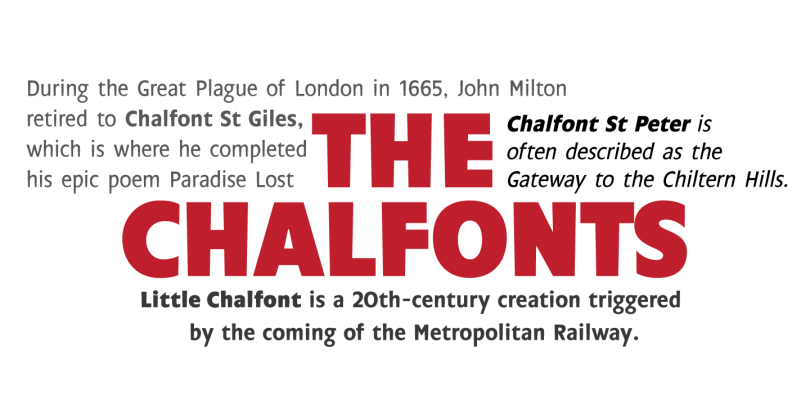 Chalfont [7 Fonts] | The Fonts Master