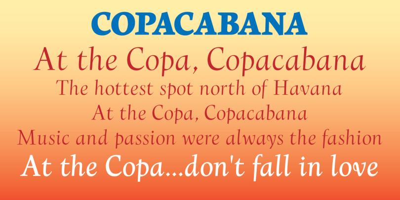 Copacabana [4 Fonts] | The Fonts Master