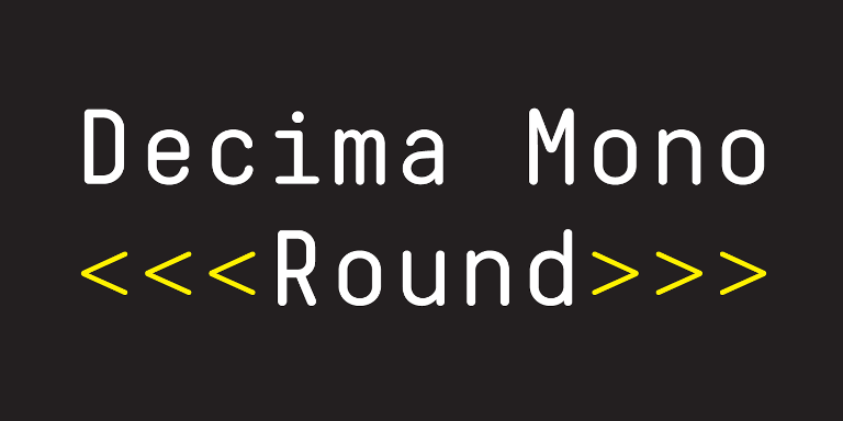 Decima Mono Round [6 Fonts] | The Fonts Master