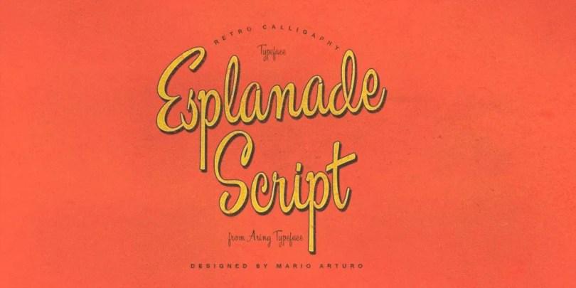Esplanade Script [1 Font] | The Fonts Master