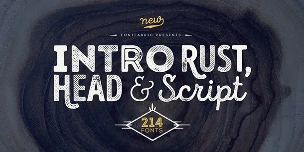 Intro Rust Super Family [214 Fonts]   The Fonts Master