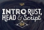 Intro Rust Super Family [214 Fonts] | The Fonts Master
