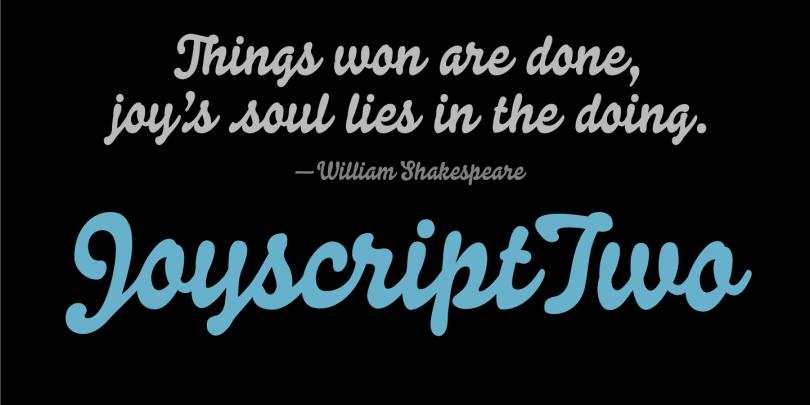 Joyscript Two [1 Font] | The Fonts Master