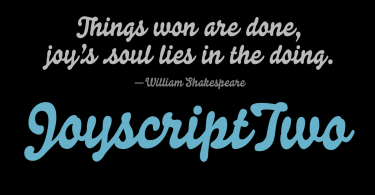 Joyscript Two [1 Font]   The Fonts Master