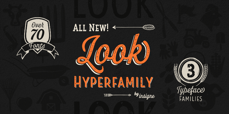 Look Super Family [76 Fonts] | The Fonts Master