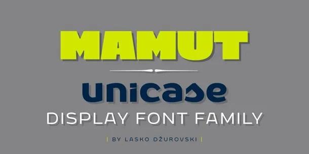 Mamut [3 Fonts]   The Fonts Master