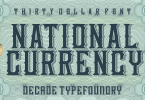 National Currency [3 Fonts] | The Fonts Master
