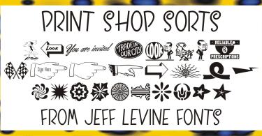 Print Shop Sorts Jnl [1 Font] | The Fonts Master