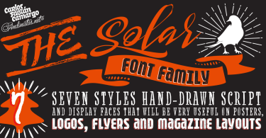 Solar [7 Fonts]   The Fonts Master