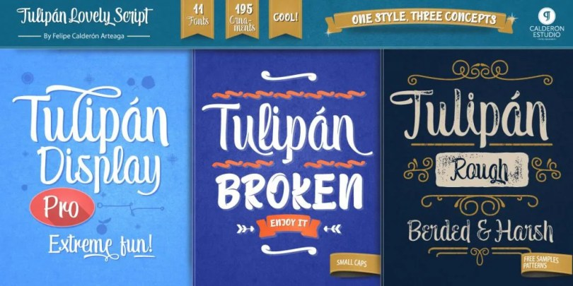 Tulipán [11 Fonts] | The Fonts Master
