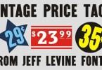 Vintage Price Tags Jnl [1 Font] | The Fonts Master