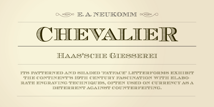 Chevalier [5 Fonts] | The Fonts Master