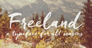 Freeland [1 Font] | The Fonts Master