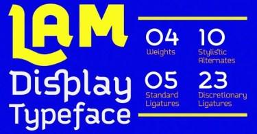 Lam [4 Fonts]
