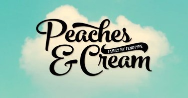 Peaches And Cream [5 Fonts] | The Fonts Master