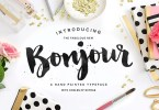 Bonjour! Typeface With Extras [4 Fonts] | The Fonts Master