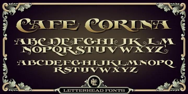 Lhf Cafe Corina [1 Font]   The Fonts Master