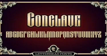 Lhf Conclave [3 Fonts]   The Fonts Master
