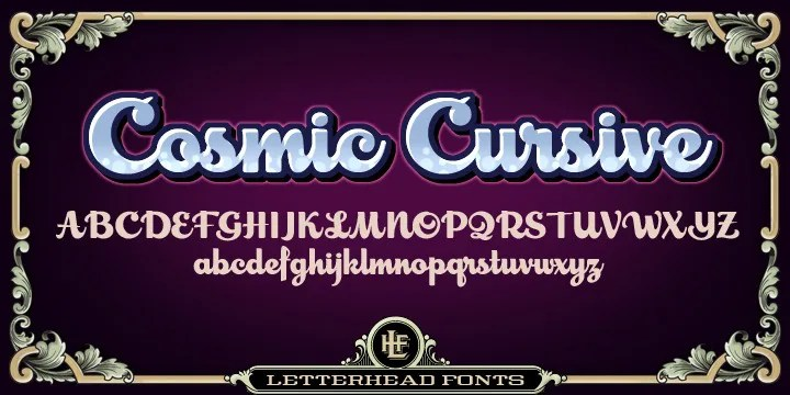 Lhf Cosmic Cursive [2 Fonts] | The Fonts Master