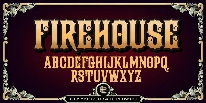 Lhf Firehouse [1 Font] | The Fonts Master
