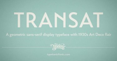 Transat [10 Fonts] | The Fonts Master
