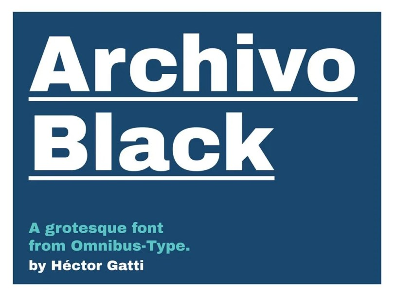 Archivo Black [1 Font] | The Fonts Master