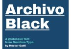 Archivo Black [1 Font] | The Fonts Master