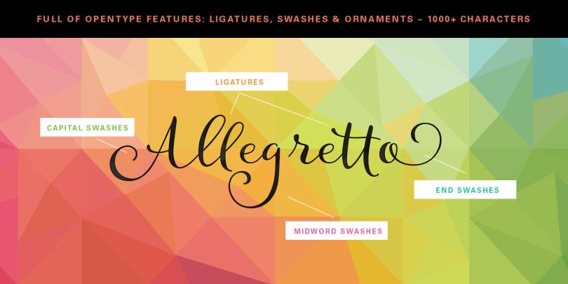 Allegretto [1 Font] | The Fonts Master