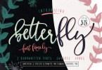 Betterfly [4 Fonts+Bonus]   The Fonts Master