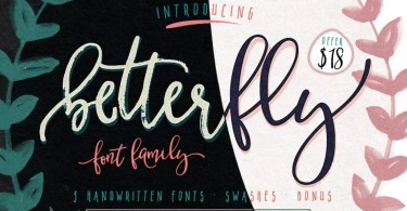 BetterFly [4 Fonts+Bonus]