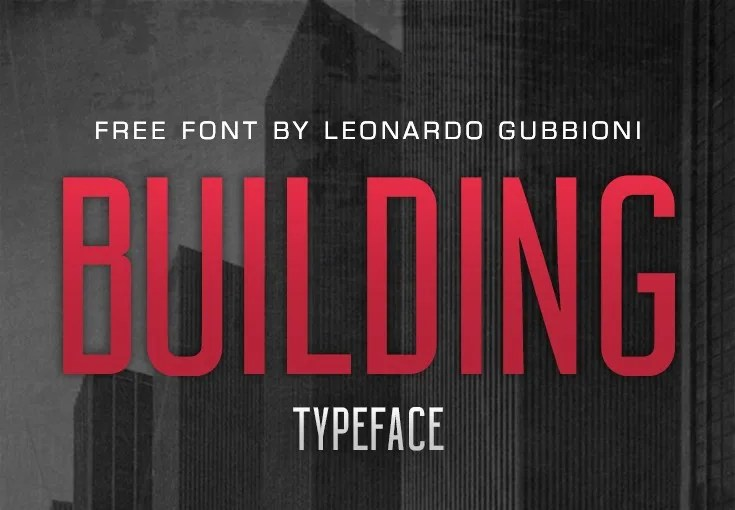 Building Typeface [1 Font] | The Fonts Master
