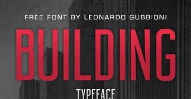 Building Typeface [1 Font]