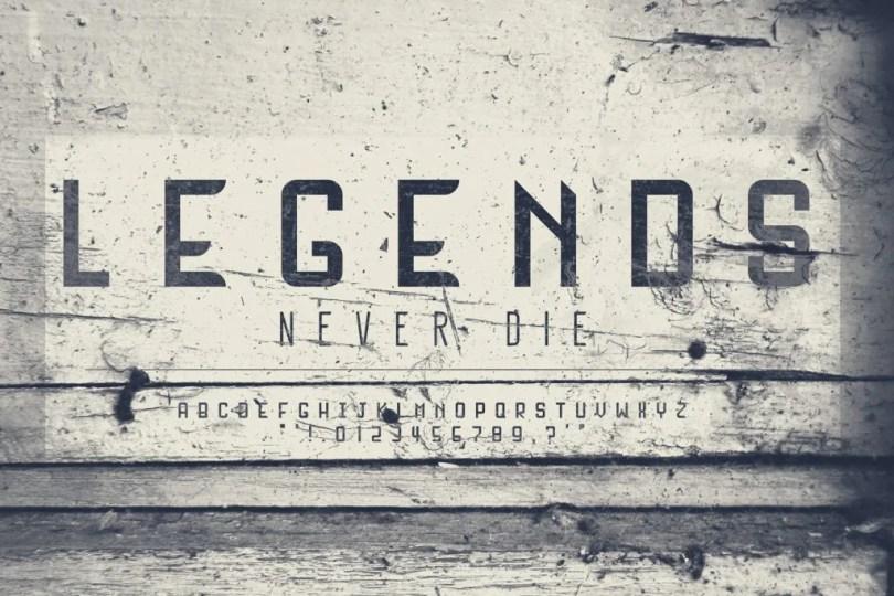 Legends [1 Font]   The Fonts Master