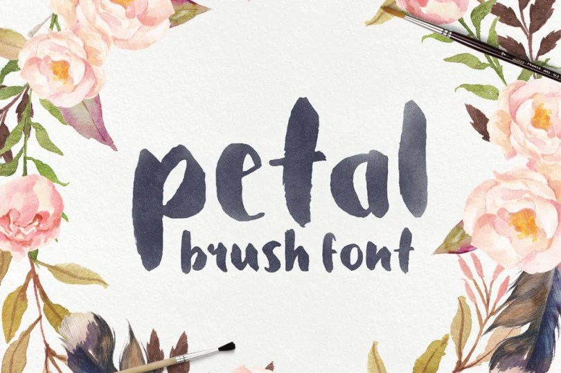 Petal - Brush Font [1 Font] | The Fonts Master